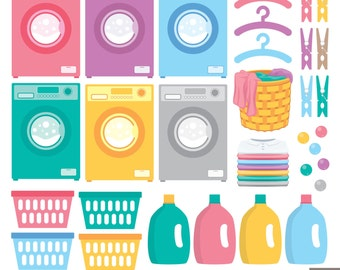 Laundry Day Digital Clipart