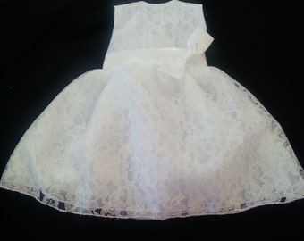 "18"" Doll Dress - Lace - Preemie Dress"