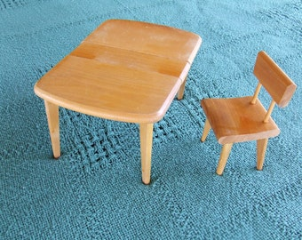 Strombecker Doll Table and Chair