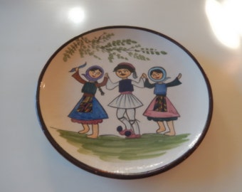 POLAND DANCERS on PLATE Wall Hanging