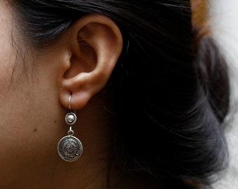 Sterling Silver Intricate Earrings