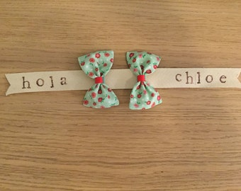 MIRAFLORES #2 mini hair bows-set of TWO