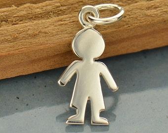 Sterling Silver, Cut Out Boy, Boy Charm, Boy Pendant, Children Jewelry, Silver Boy Charm, Little Boy Charm, Kid Charm, Child Jewelry