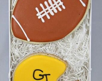 Football  and Football Helmet Cookies Gift Box