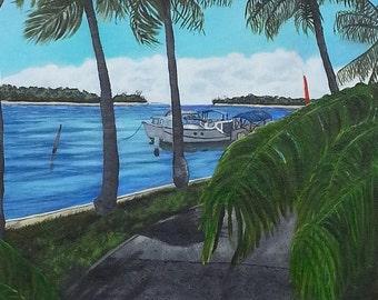 Original Painting - Landscape Painting - Noosa Painting