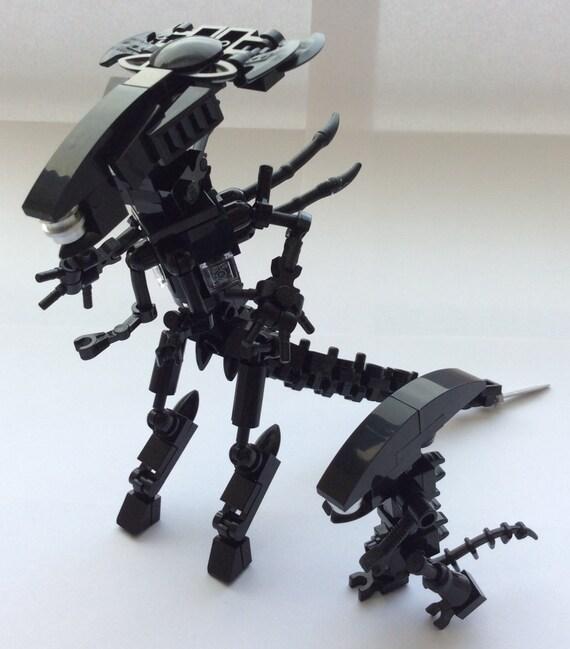 Lego Alien Queen Custom Figure & Minifigure Xenomorph Minifig