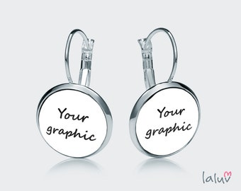 Earrings WITH YOUR GRAPHIC