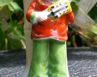 Lovely Vintage Occupied Japan Little Girl Bud Vase Figurine 4""