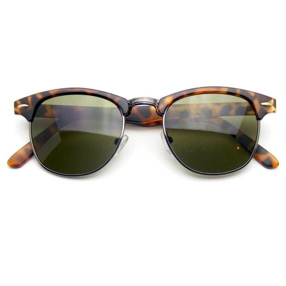 Wayfarer Glasses Half Frame : Classic Half Frame Vintage Clubmaster Wayfarer by ...
