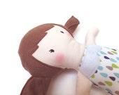 "Pretty blankie doll - Petite poupée doudou en tissu ""Luna"""