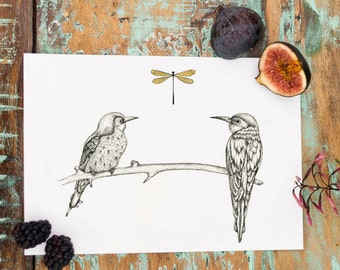 A5 Bee-eaters Print
