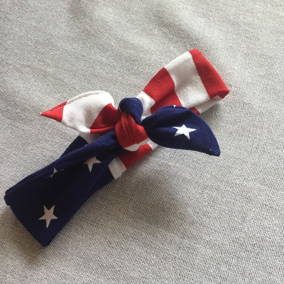 Stars and Stripes headband // american flag head wrap // baby and ...