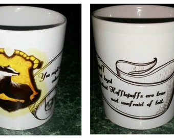 Harry Potter inspired Hufflepuff House mug