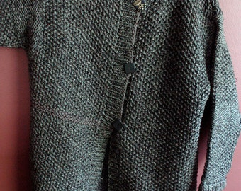 Seed Stitch Coat, Patricia Coat, Knit Coat, Knit Jacket, Knitting Pattern for Seed Stitch Coat, Easy Knitting Pattern, Sweater Coat,Fall