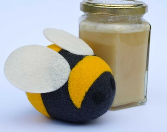 Felted Bumblebee - filled with lavender. Aromatic Animals