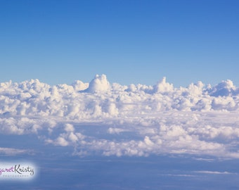 White Clouds - sky blue white air water floating fly photography