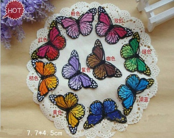Butterfly iron on patches cute embroidered patches for girl  10pcs