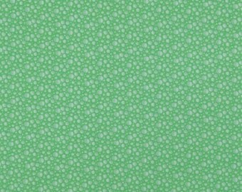 One Yard - Quilting Treasures - Paddinton Numbers - Green Bubbles - 1649-25621-G