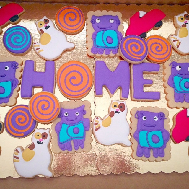 Home Movie Cookies Boov Dreamworks Party