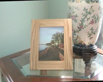 Oak Picture Frame 5x7 Plain
