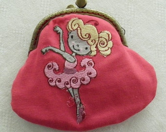 Coin purse embroidered