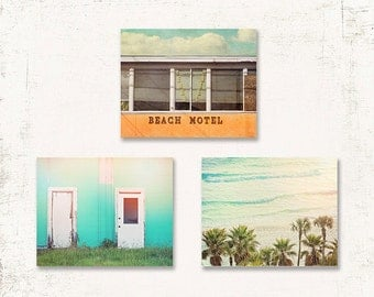 Beach Wall Art Surf Shack Decor Set Of Three Prints Or Canvases Beach