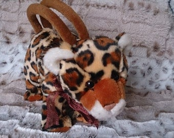 Very cute novelty leopard cub handbag/ purse/ make up purse.