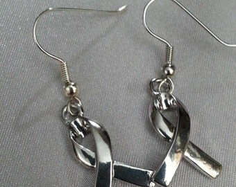 BREAST CANCER Awareness RIBBON Earrings