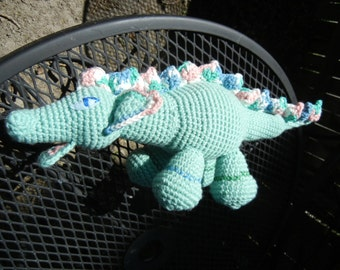 Green Dragon Amigurumi with Eye Problems is now a Therapy Doll