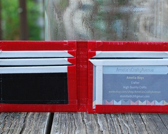 Red, White, and Black Duct Tape Bifold