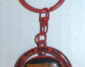 KISS Spinning Guitar Pick Keychain