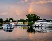 Nautical Prints, Nautical Decor, Boat Print, Rainbow Print, Rainbow Picture, Rainbow Wall Art, Nautical Prints, Nautical Decor, Storm Art
