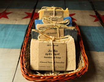 JoMo 5-Bar Soap Gift Set - Natural Handmade Soap made with pure essential oils and all-natural ingredients