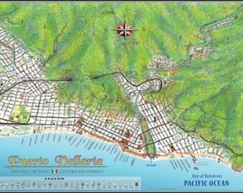 Puerto Vallarta Centro Poster Map