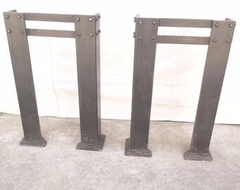 Metal Hall Table vintage metal table legs | etsy