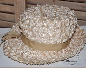 Ivory Straw Hat, Cream Straw Hat, Wide Brim Cello Straw Hat, Ladies Straw Hat, Ivory Raffia Hat, Ivory Wide Brim Hat