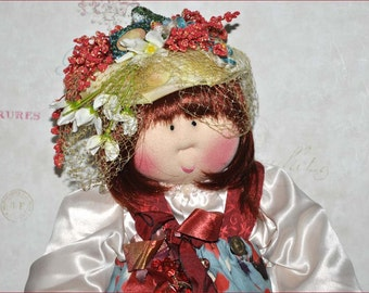 "Little Souls Doll, Little Souls Swanky, Little Souls Beatrice 24"", Gretchen Wilson, Cloth Dolls, One-Of-A-Kind, DollyMama, Ooak"