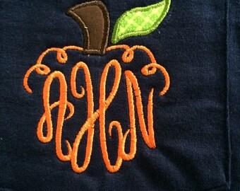 Pumpkin monogram tshirt!