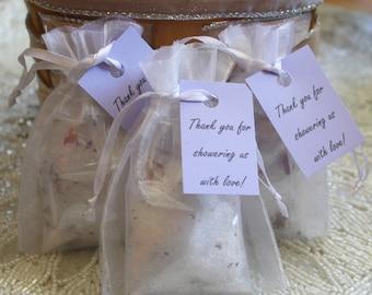 SAMPLE Bath Salt Sachet Bag for Wedding Favors - Tea Pary Favors - Bridal Shower or Baby Shower Favors