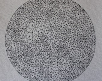 Triangle sphere original drawing #1