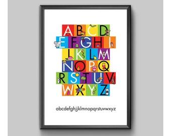 Children's Alphabet Poster No. 2