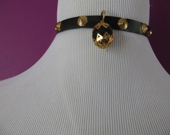Kerrie-No-Lana Studded Leather Choker