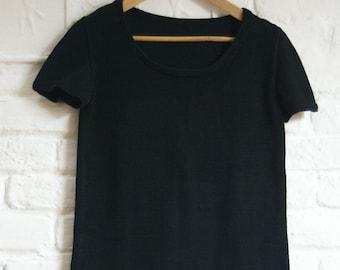 Classic black cotton jumper