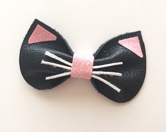 Leather Kitty Bow