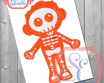 Boy Bones Applique Design For Machine Embroidery INSTANT DOWNLOAD