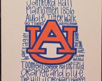 Auburn Phrases Canvas