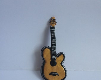 Guitar Clay Cake Topper