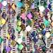 8x8mm Titanium Rainbow Hematite Gemstone Floral Leaf Clover 8mm Loose Beads 16 inch Full Strand BULK LOT 1,2,6,12 and 50 (90185588-841)