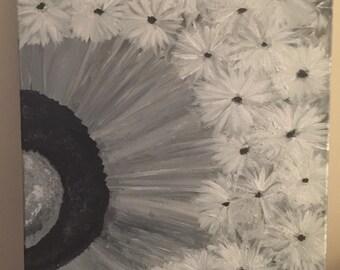 Abstract Dandelion 16x20