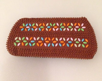 Vintage Beaded Eye Glass Case